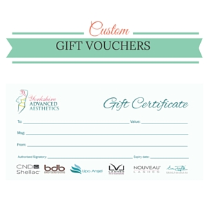 Gift Vouchers available at Yorkshire Advanced Aesthetics